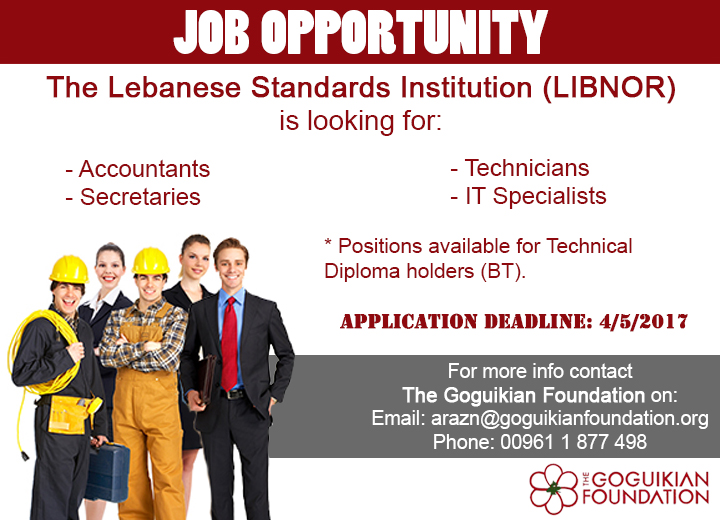 TGF NEW JOB OPPORTINITY AD - LIBNOR